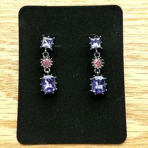 NWOT Betsey Johnson Purple Dangle Earrings